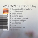 EXIT : the blind alley back cover