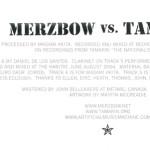 MERZBOW VS TAMARIN : mvt inner sleeve